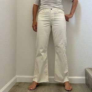 Fidelity White Fit&Flare High Rise Pants 30